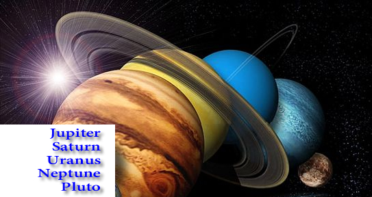 image of outer planets in astrology banner